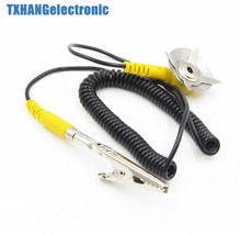 10PCS Anti-Static Coil Cable Anti Static ESD Mats Grounding Point Cord