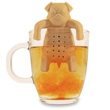 Personal Hot Tea Making Bulldog Tea Leaf Storing Equipment For Winter Hydration Supplement Hollow Out(China)