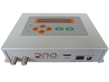 HD H.264 Encoder modulator(AV/HDMI IN,DVB-C RF out) Keyboard + LCD control and network management sc-4141