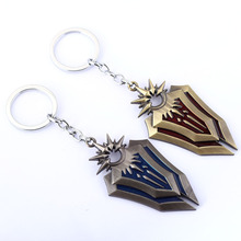 Leona Weapon keychain Online Game League of New Legends LOL Men Jewelry Kids Gifts Keyring Llavero Chaveiro wholesale