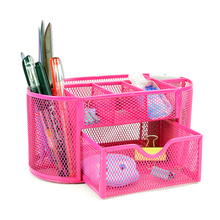 Mesh Desktop Stationery Storage Boxes 9 Divided Sundries Home Organization Accessories Supplies Gear Stuff Product