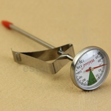 Instant Read Stainless Steel Kitchen Food Cooking Milk Coffee Probe Thermometer(China)