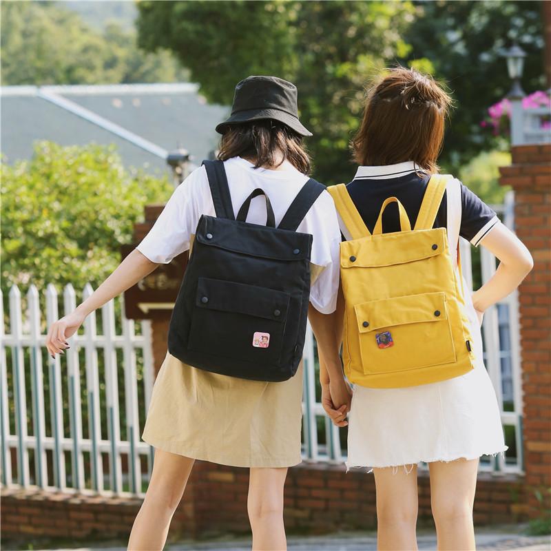 Menghuo Brand Female Women Canvas Backpack Preppy Style School Lady Girl Student School Laptop Bag Cotton Fabric bolsasJLEZ6400