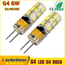 High Power G4 LED 3W 6W  AC /DC 12V  24/48 LED Cree Chips Replace 30W halogen 360 degree Chandelier Lamp Bulb Spotlight