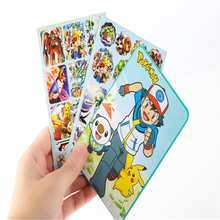 1set Pokemon Sticker Stationery Collection Stickers Children Classic Toys Cartoon Kids Stickers Christmas Gift for Children Toy