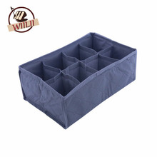 8 Cell Bamboo Foldable Storage Box For Supply Drawer Closet Divider Underwear Bra Scarf Ties Socks Home Organizer(China)