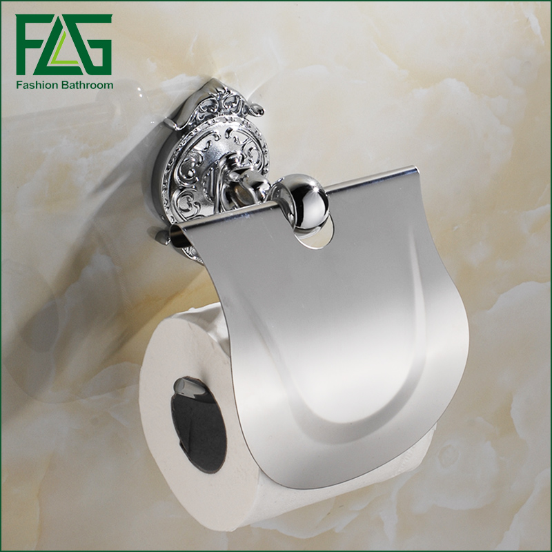 FLG Bathroom Toilet Paper Holder Chrome Wall-mounted Paper Holder Bathroom Accessories Porta Papel Higienico<br>