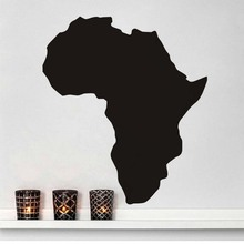 Africa Map Wall Decal Pvc Removable Sticker Adesivos De Parede Library Country World Map Cafe Restaurant Wall Art Home Decor(China)