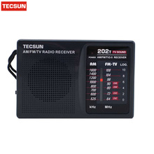 TECSUN AM/FM/TV Pocket Radio R202T Radio Receiver Built-In Speaker R-202T Free Shipping(China)