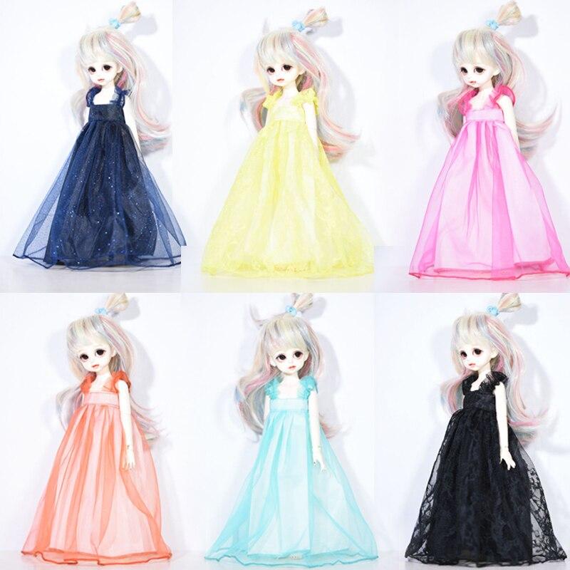 Doll Lace Dress Cute Fashion Doll Princess Dress Doll Pink Light Yellow Orange Light Cyan Lace Skirt Doll Accessories Skirt Gift