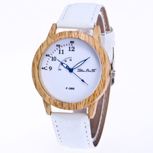 New Women Watch Wooden Plate Male And Female Clock Canvas Strap Analog Quartz Wrist Watches Ladies Fashion Casual Watch