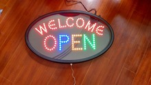 LED screen Electronic word sign neon lamp Business poster sign Pizza Moving display light LED open sign