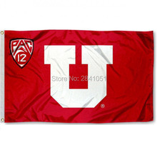 6 Color University of Utah Red Big U American Outdoor Indoor Football College Flag 3X5 Custom USA Any Hockey Flag(China)