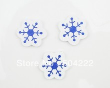 250 pcs snowflakes kawaii flower Wood, Wooden Cabochon charm Button diy doll making 28mm snow flakes