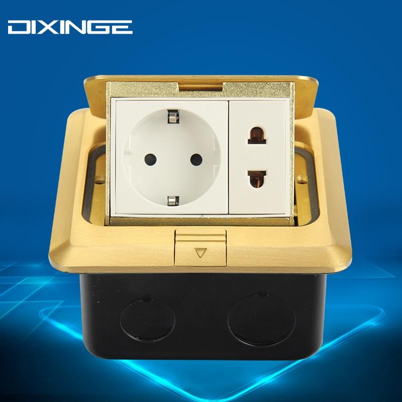 German Standard Round Flat Socket Adapter EU Plug Socket Stopcontact Panel Dual B120-T145<br>
