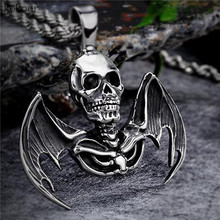 stainless steel chain long chokers Mix order new arrival personalized skull pendant stainless steel necklaces best gift for man
