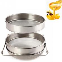 Top quality Honey Strainer Stainless Steel Beekeeping Double Honey Sieve Strainer Filter Set Apiary Equipment