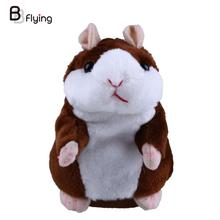 Lovely Free Shipping Talking Hamster Plush Toy Hot Cute Speak Talking Sound Record Hamster Talking Toys for Children