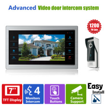 "Homefong 7"" TFT 1200TVL Door Monitor Video Intercom Home Door Phone Recorder System SD/TF Card Supported Waterproof Rain Cover"