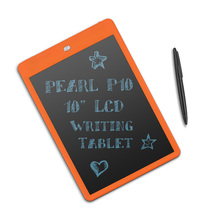 "Parblo Pearl P10 10"" LCD Writing Tablet Drawing Board Paperless Digital Notepad Rewritten Pad for Draw Note Memo Message Orange(China)"