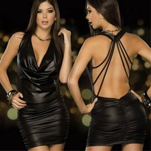 Buy Plus Size Lingerie Sexy Hot Erotic Costumes Women Erotic Lingerie Sexy Latex Leather Clubwear Sex Pole Dance Baby Doll Dress