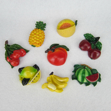 Lovely 3D Fruits Fridge Magnets Creative Handmade Resin Refrigerator Magnetic Message Stickers Home Decor Decoration