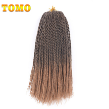 "TOMO Senegalese Twist Ombre Kanekalon Braiding Hair 16"" 30Roots Synthetic Crochet Braids Hair Extensions 10Pcs 15 Colors(China)"