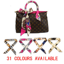 31 color multifunction brand luxury woman scarves small scarf Twilly bandage fashion bag for Lady handbag straps for headband