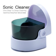 Mini Ultrasonic Cleaner For Coin Ring Jewelry Denture Cleaning Sonic Wave Cleaner(China)