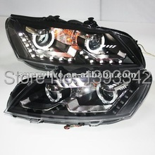 For VW Passat B7 LED Head Lamp Angel Eyes with DRL 2011-2012 TLZV2