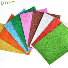 Looen 10PCS/Pack Glitter Foam Paper For Wedding Part Decor Scrapbooking Quilling Tools Multicolor Craft Origami Paper Set 8x12''(China)