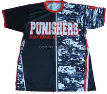Dye Sublimation Customize Own Team Camo Design Softball Top