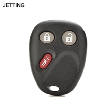 JETTING Black 3 Buttons Remote FOB Case For GMC Chevy Keyless Entry Car Key Case Shell Cover Replacement