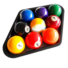 "high-quality Plastic Billiards 9 Ball Pool Table Triangle Rack Heavy Duty Black wear-resistant Fits standard 2 1/4"" size balls"