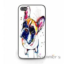 back shell skins cellphone case cover for iphone 4 4s 5 5s 5c SE 6 6s 7 plus ipod touch 4/5/6 Unique Design French Bulldog(China)