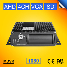 SD Card 4CH AHD Mobile Video Dvr 1080 H.264 Motion Detection G-sensor Cycle Recording PC Playback I/O AHD Car Camera Dvr(China)