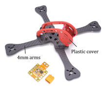 220 220mm Quadcopter Frame with 4mm arm Plastic cover Distribution board PDB for GEPRC Leopard GEP-LX5 GEP LX5(China)