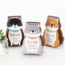 1 Pcs/set Kawaii 2018 Cartoon Shiba Happy Together Mini Desktop Paper Calendar dual Daily Table Agenda(China)