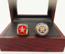 Factory price Drop shipping One Set(2pcs)2005 2017  Houston Astros Basketball custom sports Replica world Championship Ring