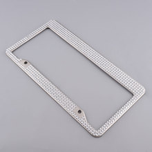 Stainless Steel Metal Luxury Bling Crystal Car Automobile License Plate Frame