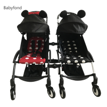 BabyStroller Super Light Baby Twin Carriage Any Color Mixed Pram Wide Seat Twins Stroller 165 Degree Angle Adjustable