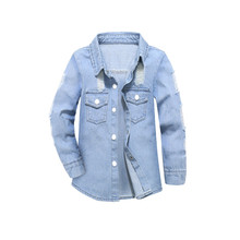Toddler Kids Boys Girls Coats Jackets Outwear 2018 Girl Jackets Coat Casual Baby Girl Hole Denim Jackets Cardigan Outwear(China)