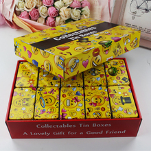 Lovely Cartoon Face Tin Box Macoran Cookie Container 20Piece/Lot Mac Cosmetics Make Up Box Home Decoration Tea Chocolate Box