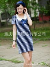 Adult babydoll dress Japan Korea England cute preppy chic Popular lovely womens Costumes schoolgirls stripe clothing casual wear(China)