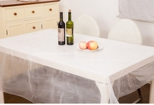 PVC White tablecloth / disposable  tablecloth / plastic tablecloth