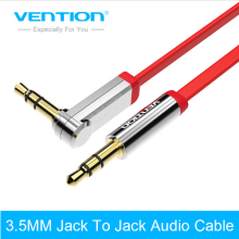 Vention 3.5mm audio cable 90 degree right angle flat jack 3.5 mm aux cable for iPhone car headphone beats speaker aux cord MP3/4