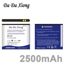 Da Da Xiong 2500mAh BP-6X Li-ion Phone Battery for Nokia 8800 8860 8800 Sirocco N73i(China)