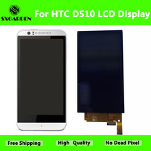 SXGARDEN For HTC Original Desire 510 LCD Display With Touch Screen Digitizer Assembly Replacement Parts with frame D510