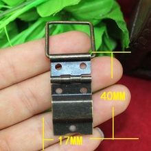 17*40mm Even silk box hinge hinge  fittings even wooden wine silk trumpet even wire hinge bronze Wholesale