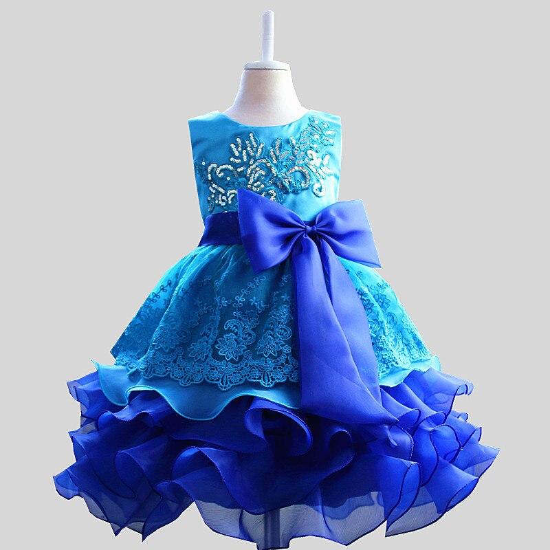 Summer Princess Sequin Girl Bow Dress Summer Sleeveless Layer Mesh Dress for Girl Kids 8 Years Birthday Party Vestido Gift<br><br>Aliexpress